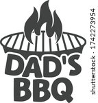 dad's bbq   barbecue quote | Shutterstock .eps vector #1742273954