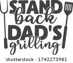 stand back dad's grilling  ... | Shutterstock .eps vector #1742273981