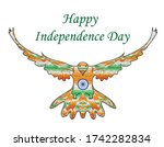 happy india independence day.... | Shutterstock . vector #1742282834