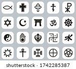 religion symbols icons black  ... | Shutterstock .eps vector #1742285387