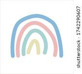 cute rainbow retro hand drawn...   Shutterstock .eps vector #1742290607
