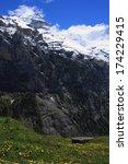 swiss alps landscape near... | Shutterstock . vector #174229415