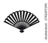 hand fan icon isolated on white ...   Shutterstock .eps vector #1742297294