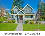 luxury house with long doorway... | Shutterstock . vector #174230765