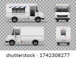 realistic food truck vector... | Shutterstock .eps vector #1742308277