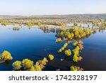 spring overflow landscape ... | Shutterstock . vector #1742328197