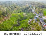village near rice fileds... | Shutterstock . vector #1742331104