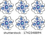 different patterns created from ...   Shutterstock .eps vector #1742348894