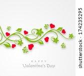 happy valentines day... | Shutterstock .eps vector #174235295