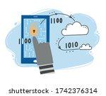 scammer attack  email phishing  ... | Shutterstock .eps vector #1742376314