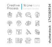 creativity pixel perfect linear ... | Shutterstock .eps vector #1742383934