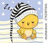 Sleeping Cute Chicken In A Hood ...