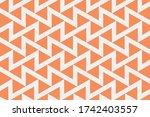 orange peach and white seamless ... | Shutterstock .eps vector #1742403557
