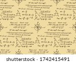 vector seamless pattern with... | Shutterstock .eps vector #1742415491