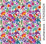 seamless floral pattern with... | Shutterstock .eps vector #1742432624