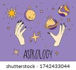 halloween illustration.... | Shutterstock .eps vector #1742433044