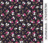 simple cute pattern in small... | Shutterstock .eps vector #1742455784