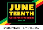 juneteenth freedom day. african ... | Shutterstock .eps vector #1742460557