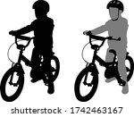 preschooler bicyclist...   Shutterstock .eps vector #1742463167