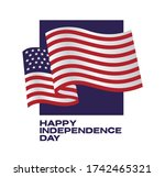 fourth of july independence day ... | Shutterstock .eps vector #1742465321