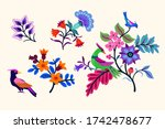 vector oriental motif of... | Shutterstock .eps vector #1742478677
