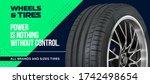 car wheel. passenger car  light ... | Shutterstock .eps vector #1742498654