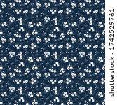 elegant floral pattern in small ... | Shutterstock .eps vector #1742529761