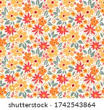 cute floral pattern in the... | Shutterstock .eps vector #1742543864