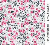 floral pattern. pretty flowers... | Shutterstock .eps vector #1742546654