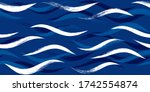 Seamless Wave Pattern  Hand...
