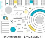 abstract geometric background... | Shutterstock .eps vector #1742566874