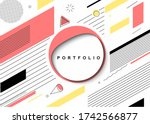 abstract banner with portfolio... | Shutterstock .eps vector #1742566877