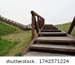 Wooden Stairs With Wooden...