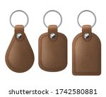 Leather Keychains  Brown...