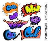cartoon comics sign. graffiti...   Shutterstock .eps vector #1742594087