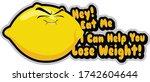 cute lemon illustration with... | Shutterstock .eps vector #1742604644