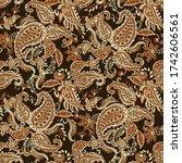 paisley pattern. seamless asian ... | Shutterstock . vector #1742606561