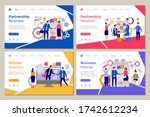 business partners landing. web... | Shutterstock . vector #1742612234