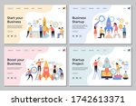 startup landing pages. web...   Shutterstock . vector #1742613371