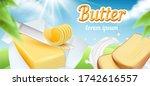 butter. advertizing package of... | Shutterstock . vector #1742616557