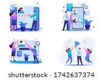 set flat 2d concepts hr...   Shutterstock .eps vector #1742637374