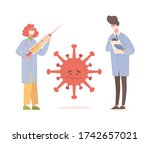 doctors in medical uniform and...   Shutterstock .eps vector #1742657021