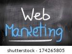 web marketing concept | Shutterstock . vector #174265805