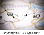 Small photo of Trammel. Virginia. USA on a geography map