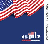 modern 4th july typography... | Shutterstock .eps vector #1742684507