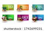 large collection of colorful... | Shutterstock .eps vector #1742699231