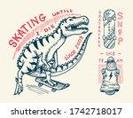 skateboard badges and logo.... | Shutterstock .eps vector #1742718017