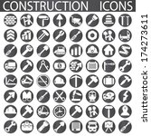 construction icons  | Shutterstock .eps vector #174273611
