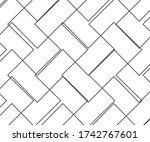 wave line and wavy zigzag... | Shutterstock .eps vector #1742767601