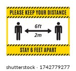 please keep your distance sign. ...   Shutterstock .eps vector #1742779277